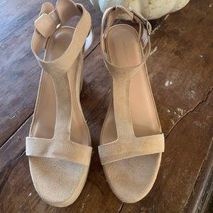 Suede platform heels by Loeffler Randall